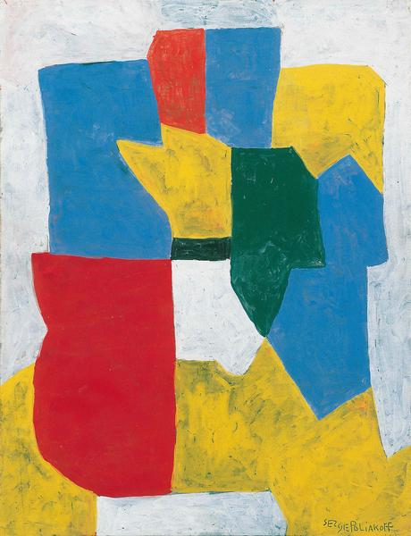 Serge Poliakoff COMPOSITION ABSTRAITE 1969 Gouache on paper 24 x 18 1/8 inches 61 x 46 centimeters