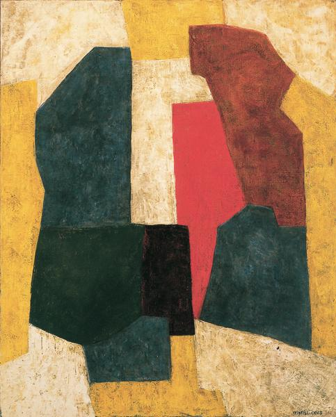 Serge Poliakoff COMPOSITION ABSTRAITE 1969 Oil on canvas 63 3/4 x 51 1/8 inches 162 x 130 centimeters