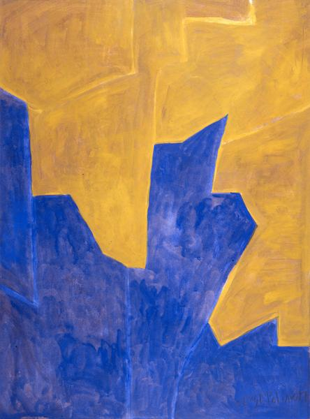 Serge Poliakoff COMPOSITION ABSTRAITE 1961 Gouache on paper 24 3/8 x 18 1/2 inches 62 x 47 centimeters