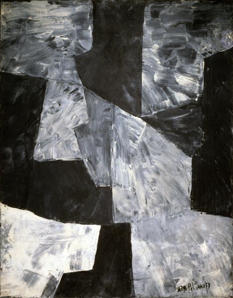 Serge Poliakoff NOIR ET GRIS 1959 Oil on canvas 31 7/8 x 25 5/8 inches 81 x 65 centimeters