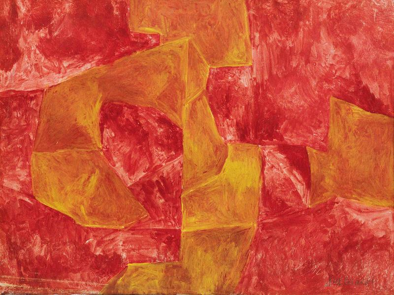 Serge Poliakoff COMPOSITION ABSTRAITE 1960 Gouache on paper 17 3/8 x 23 1/4 inches 44 x 59 centimeters