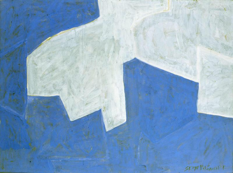 Serge Poliakoff COMPOSITION ABSTRAITE 1961 Gouache on paper 18 3/4 x 24 7/8 inches 47.5 x 63 centimeters