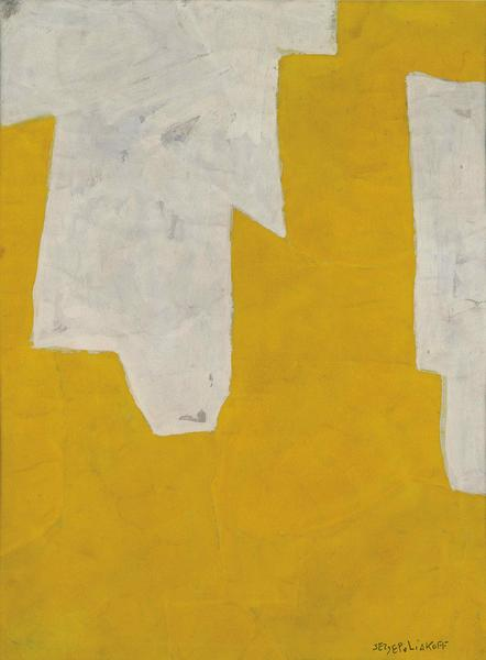 Serge Poliakoff COMPOSITION ABSTRAITE 1961 Gouache on paper 24 3/8 x 18 1/8 inches 62 x 46 centimeters