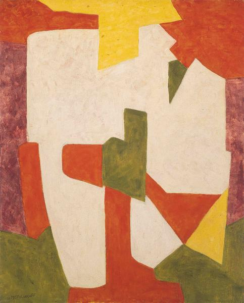 Serge Poliakoff COMPOSITION ABSTRAITE 1969 Oil on canvas 63 7/8 x 51 1/4 inches 162 x 130 centimeters