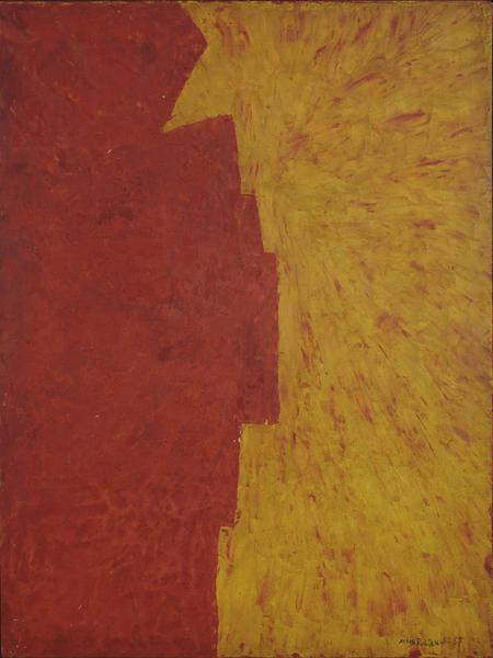 Serge Poliakoff COMPOSITION ABSTRAITE 1957 Oil on panel 51 1/4 x 38 1/4 inches 130 x 97 centimeters