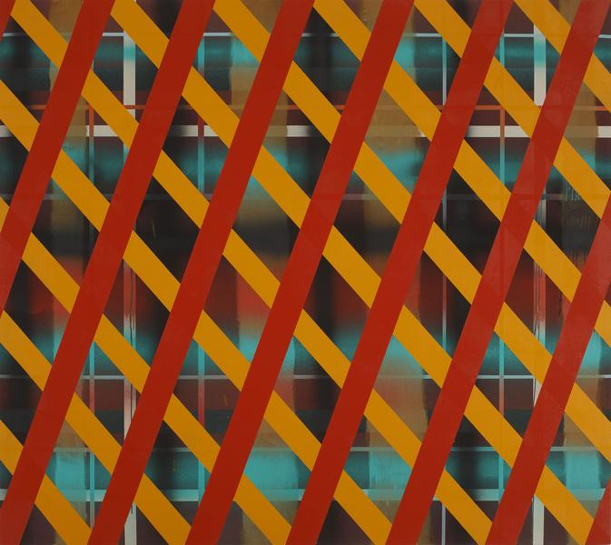 Sean Scully 	NEWCASTLE BRIDGE  1972 	Acrylic on canvas 	96 x 108 inches 	243.8 x 274.3 centimeters