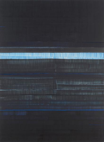 Juan Uslé SOÑE QUE REVELABAS (MACKENZIE) 2015 Vinyl, dispersion, acrylic and dry pigment on canvas 108 x 80 inches 274.3 x 203.2 centimeters