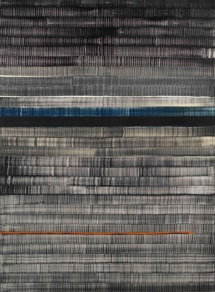 Juan Uslé SOÑE QUE REVELABAS (COLUMBIA) 2015 Vinyl, dispersion, acrylic and dry pigment on canvas 108 x 80 1/4 inches 274.3 x 203.8 centimeters