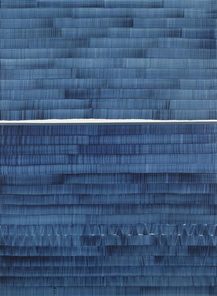 Juan Uslé SOÑE QUE REVELABAS (KOLYMA) 2016 Vinyl, dispersion and dry pigment on canvas 108 x 80 inches 274.3 x 203.2 centimeters