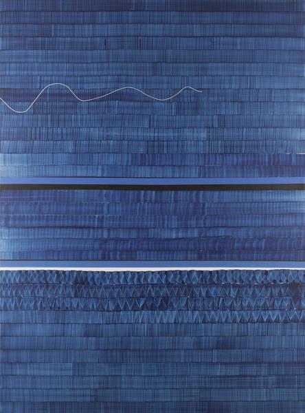 Juan Uslé SOÑE QUE REVELABAS (DANUBIO) 2016 Vinyl, dispersion and dry pigment on canvas 120 x 89 inches 304.8 x 226.1 centimeters