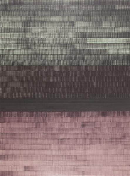 Juan Uslé SOÑE QUE REVELABAS (COLORADO) 2016 Vinyl, dispersion and dry pigment on canvas 120 x 89 inches 304.8 x 226.7 centimeters