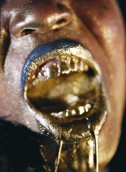 Marilyn Minter 	WANGECHI GOLD 3 2009 	Type C Print 	60 x 40 inches 	152.4 x 101.6 centimeters