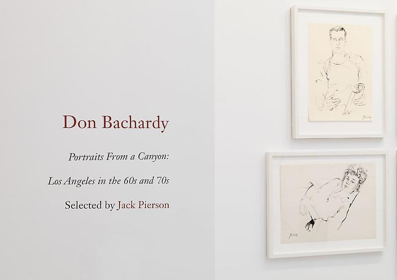 Don Bachardy 	Portraits From a Canyon: Los Angeles in the 60s and 70s 	Selected by Jack Pierson 	January 17 - February 23, 2013
