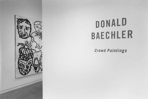 Donald Baechler - Crowd Paintings - Exhibitions - Cheim Read