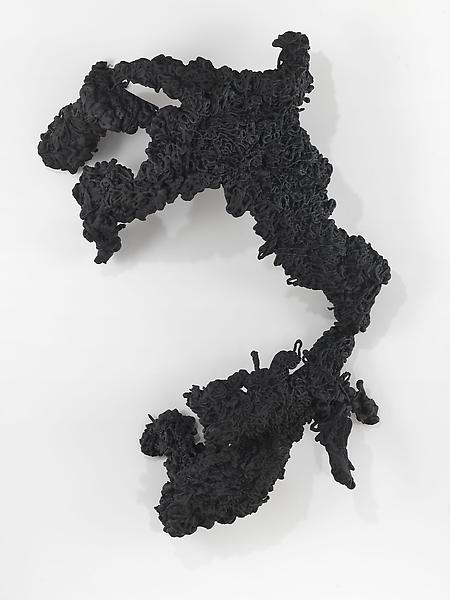 Lynda Benglis 	FIGURE 5 2009 	Bronze, black patina 	89 x 61 x 27 inches 	226.1 x 154.9 x 68.6 centimeters