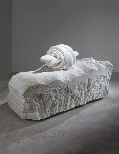 Louise Bourgeois 	NATURE STUDY  1986 	White marble 	35 x 61 x 29 inches 	88.9 x 154.9 x 73.7 centimeters