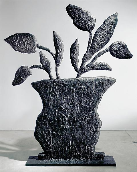 Donald Baechler PLANT 2003-04 Bronze 85 x 67 1/2 x 12 inches 215.9 x 171.5 x 30.5 centimeters