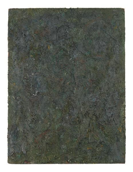 Milton Resnick 	BRND O  1982 	Oil on board 	40 x 30 inches 	101.6 x 76.2 centimeters 	RS.15236