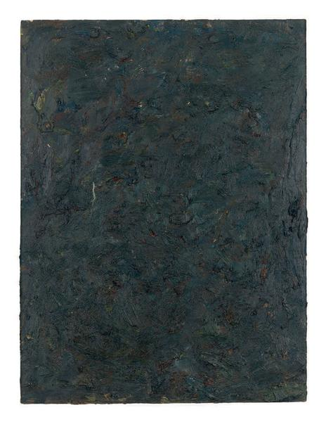 Milton Resnick 	STRAW  1982 	Oil on board 	40 x 30 inches 	101.6 x 76.2 centimeters 	RS.15235