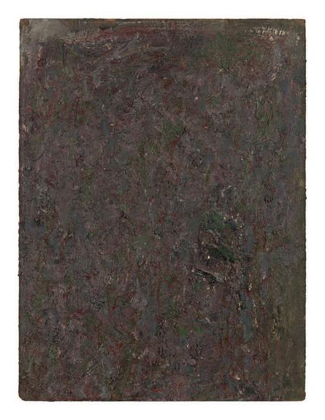 Milton Resnick 	UNTITLED  1982 	Oil on board 	40 x 30 inches 	101.6 x 76.2 centimeters 	RS.15233