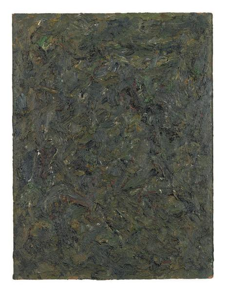 Milton Resnick 	UNTITLED  1982 	Oil on board 	40 x 30 inches 	101.6 x 76.2 centimeters 	CR# RS.15232