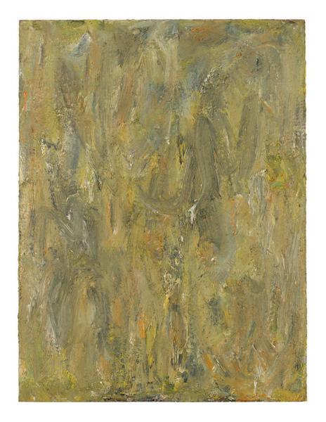 Milton Resnick 	STRAW  1982 	Oil on board 	40 x 30 inches 	101.6 x 76.2 centimeters 	RS.15054