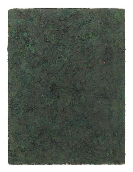 Milton Resnick 	BRND O  1982 	Oil on board 	40 x 30 inches 	101.6 x 76.2 centimeters 	RS.16276