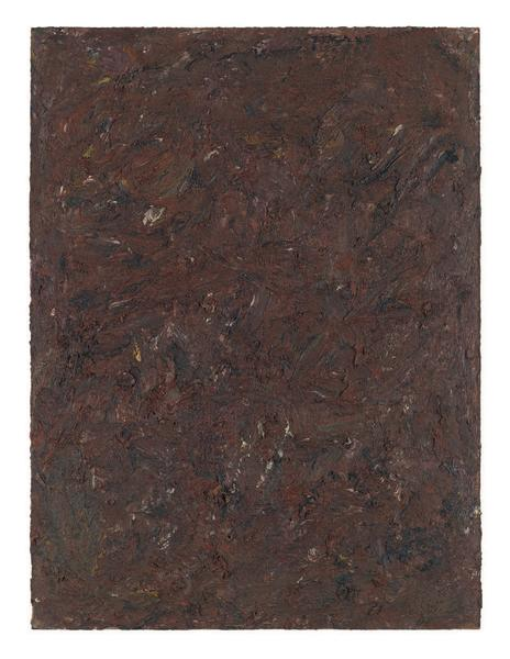 Milton Resnick 	STRAW  1982 	Oil on panel 	40 x 30 inches 	101.6 x 76.2 centimeters 	RS.15116