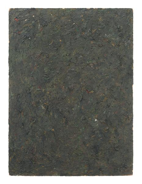 Milton Resnick 	STRAW  1982 	Oil on board 	40 x 30 inches 	101.6 x 76.2 centimeters 	RS.16306