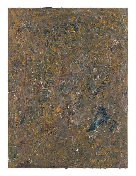 Milton Resnick 	STRAW 18  1982 	Oil on board 	40 x 30 inches 	101.6 x 76.2 centimeters 	RS.15078