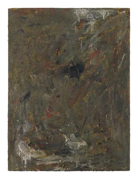 Milton Resnick 	SKOW  1981 	Oil on board 	40 x 30 inches 	101.6 x 76.2 centimeters 	RS.28007