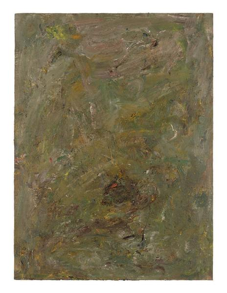 Milton Resnick 	STRAW  1982 	Oil on panel 	40 x 30 inches 	101.6 x 76.2 centimeters 	RS.15122