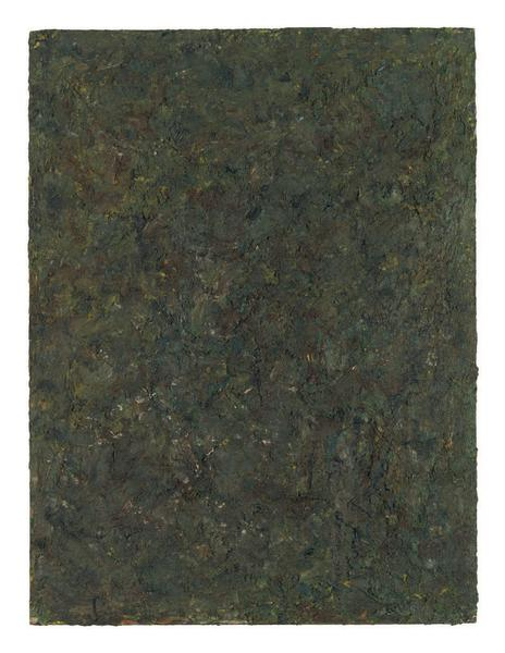 Milton Resnick 	STRAW 15  1982 	Oil on board 	40 x 30 inches 	101.6 x 76.2 centimeters 	RS.15118