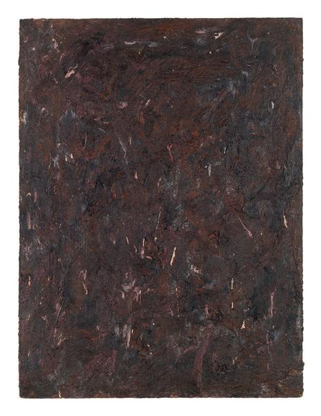 Milton Resnick 	STRAW  1982 	Oil on board 	40 x 30 inches 	101.6 x 76.2 centimeters 	RS.15082