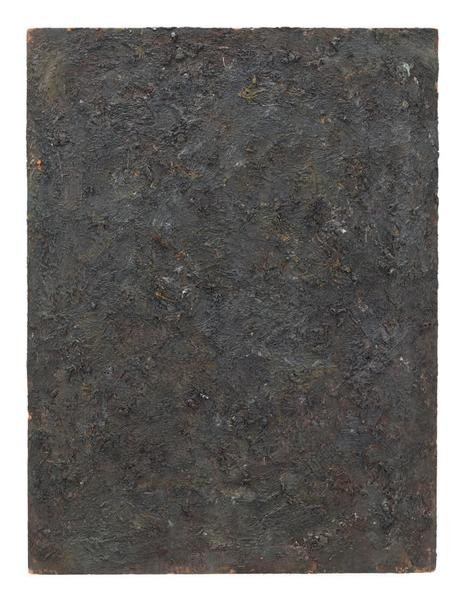 Milton Resnick 	UNTITLED  1982 	Oil on board 	40 x 30 inches 	101.6 x 76.2 centimeters 	RS.15085