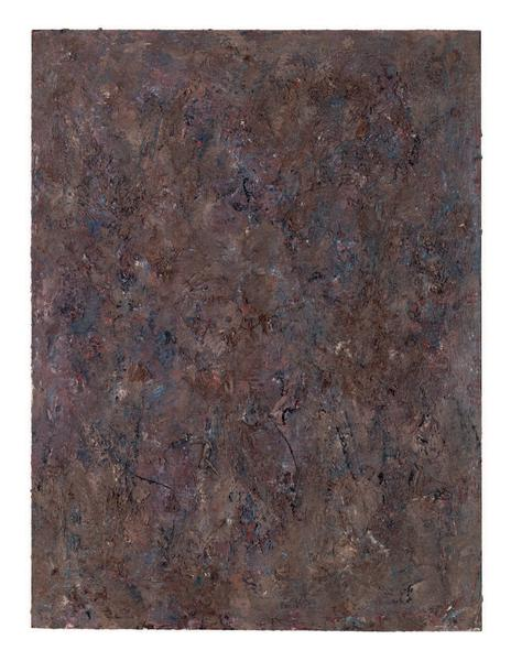 Milton Resnick 	STRAW  1982 	Oil on board 	40 x 30 inches 	101.6 x 76.2 centimeters 	RS.15060