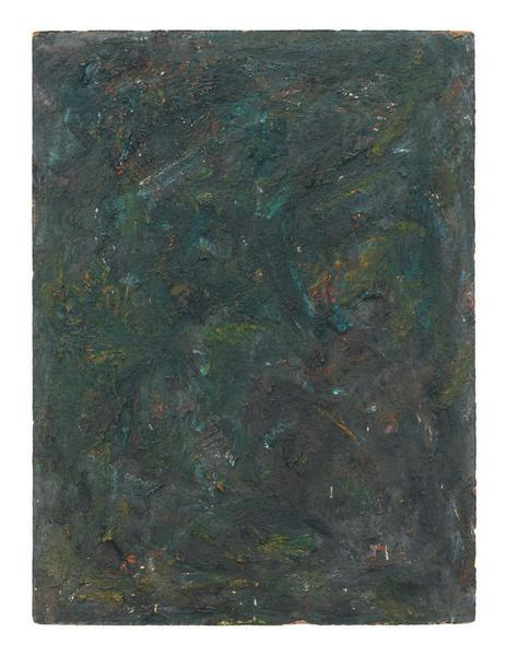 Milton Resnick 	SKOW  1981 	Oil on board 	40 x 30 inches 	101.6 x 76.2 centimeters 	RS.16286