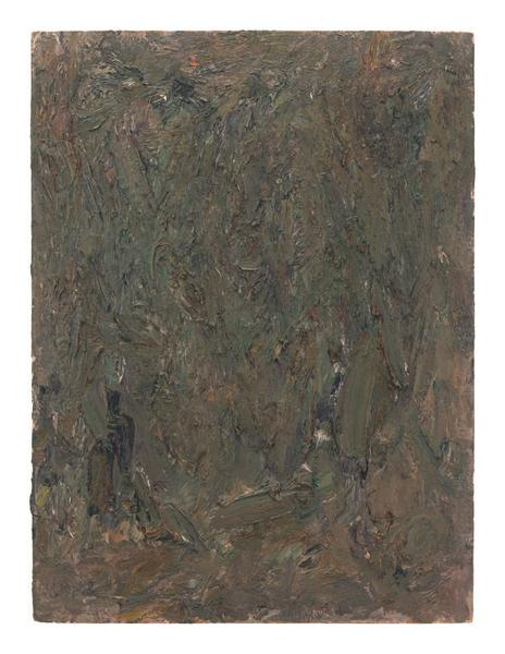 Milton Resnick 	UNTITLED  1983 	Oil on board 	40 x 30 inches 	101.6 x 76.2 centimeters 	RS.16332