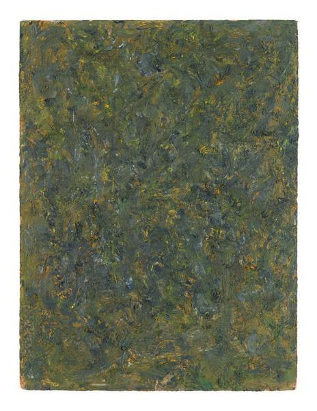 Milton Resnick 	STRAW  Circa 1984 	Oil on board 	40 x 30 inches 	101.6 x 76.2 centimeters 	RS.16750