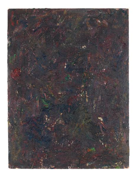 Milton Resnick 	STRAW  1982 	Oil on board 	40 x 30 inches 	101.6 x 76.2 centimeters 	RS.15089