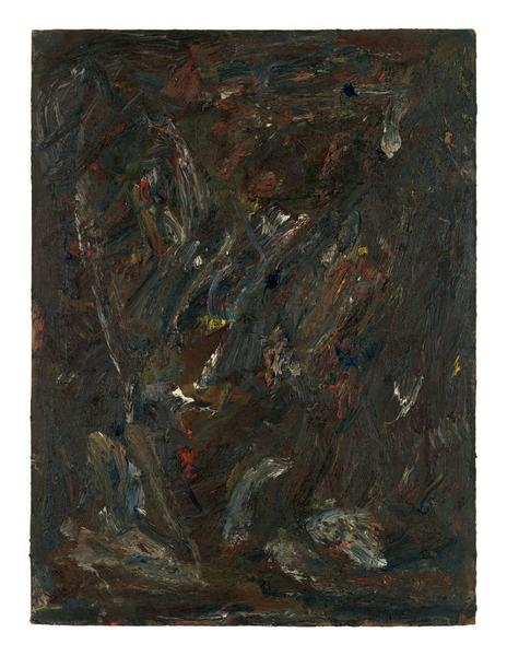 Milton Resnick 	STRAW  1982 	Oil on board 	40 x 30 inches 	101.6 x 76.2 centimeters 	RS.15079