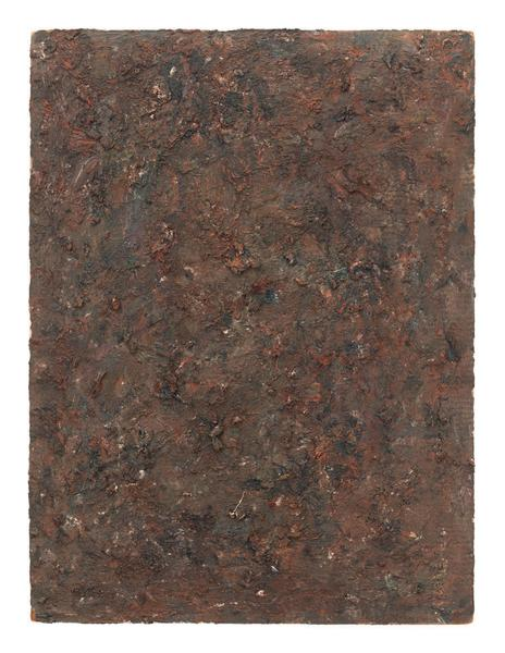 Milton Resnick 	STRAW  1982 	Oil on board 	40 x 30 inches 	101.6 x 76.2 centimeters 	RS.16283